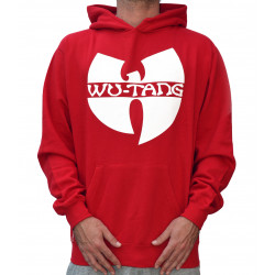 Wu-Tang Clan Logo Hooded - red