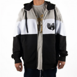 Wu Wear - Wu Tang Clan - 3 Tone Wu Stripe Hooded Zipper - Wu-Tang Clan