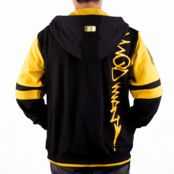 Method Man Zip Hooded - black/yellow