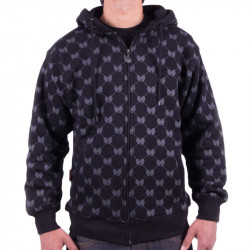 Symbol Grid Zipper - black