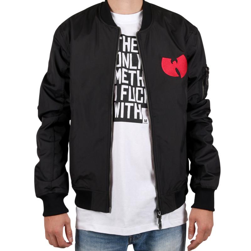 Wu Wear - Wu Tang Clan -  WU BOMBER Jacket black - Wu-Tang Clan
