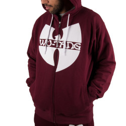 Wu Wear - Wu Tang Clan Zipper Hooded bordeaux - red - Wu-Tang Clan