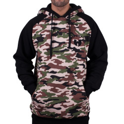 Wu Wear - Wu Tang Clan - Wu 2Tone Camo Reglan Hooded - Wu-Tang Clan
