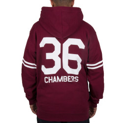 Wu Wear - Wu 36 Hooded burgundy - Wu-Tang Clan