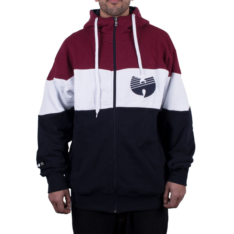 Wu Wear - Wu Tang Clan - 3 Tone Wu Zipper Hooded - Wu-Tang Clan